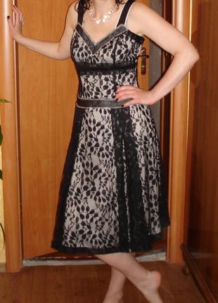 Платье для выпускного кружево черное нарядное вечернее