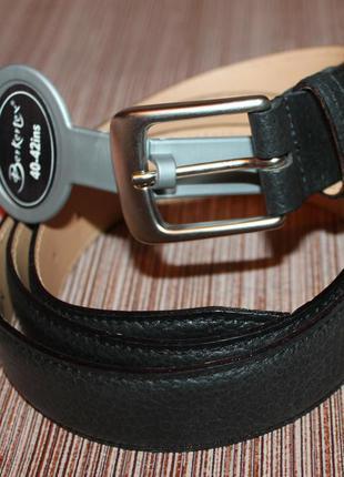 Классический кожаный ремень 100% нат.кожа berkertex