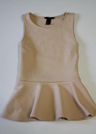 Фактурная блуза с баской hsm