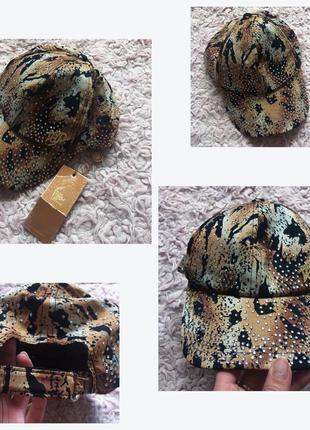 Кепка кепочка леопардовая в камни
