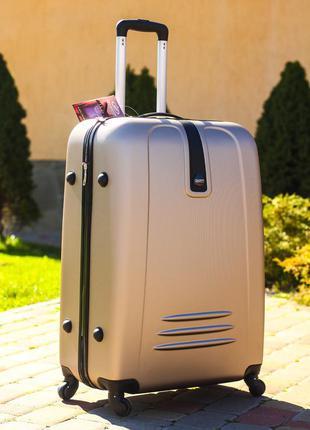 Шикарный дорожный золотой пластиковый чемодан сумка на колесах