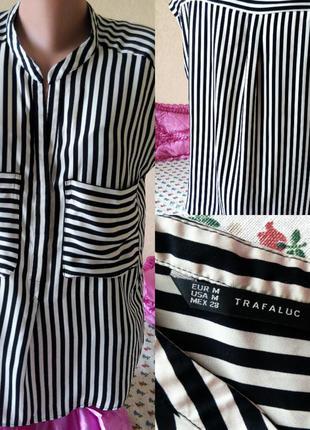 Стильная блузка zara  в полоску ,  блуза зара , тренд сезона