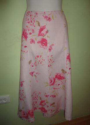 Классная летняя юбка из льна