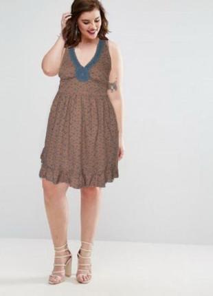 Платье сарафан e-vie uk 16