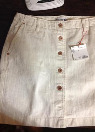 Юбка джинсовая белая  denim.