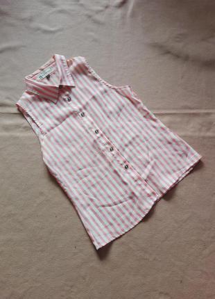 Рубашка без рукавов / блузка в в полоску от hearts&bows