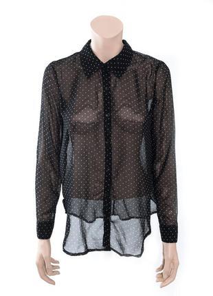 Блуза в горошек forever21 черная s