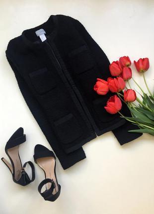 Жакет черный/ мини пальто/ укороченный классический  пиджак / осенний демисезонный жакет