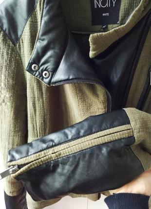 Косуха с кожаными вставками