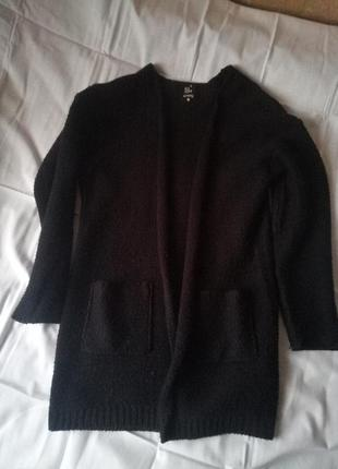 Кардиган черный с кармашками