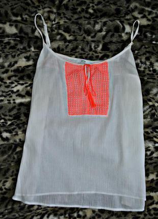 Коттоновая блуза с вышивкой от george