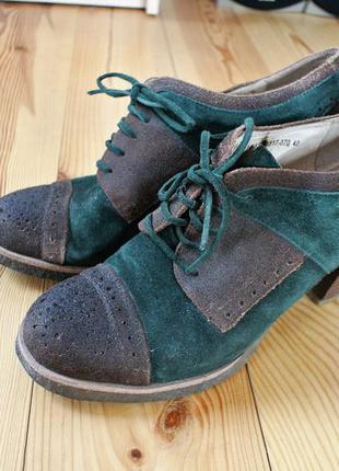 Замшевые натуральные трендовые туфли braska 40