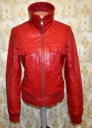 Кожаная куртка. only. 100% натуральная кожа.