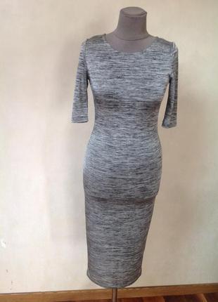 Трикотажное лайкра тонкое платье. красивое стильное.