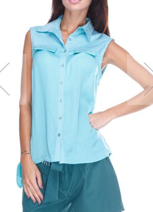 Новая легкая блуза с удлиненной спинкой justor италия