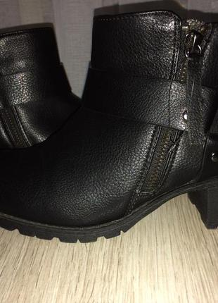 Тренд кожаные ботинки bershka