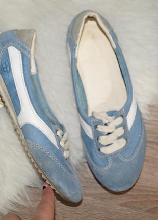 (36р./23,5см) tamaris! замша/кожа! комфортные кроссовки