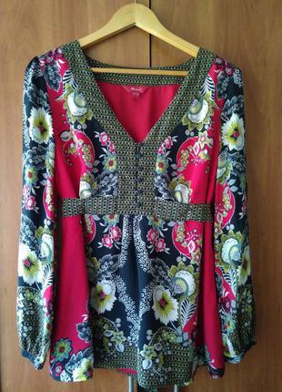 Шикарная шелковая блуза р.ххl monsoon