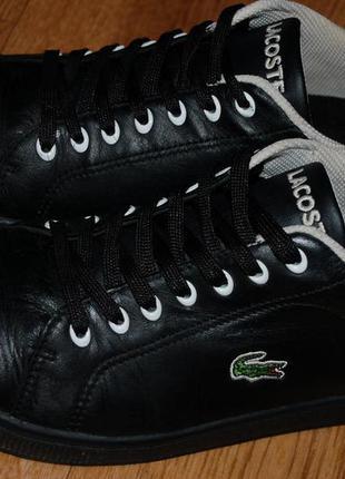 Кожаные кроссовки lacoste 38 р