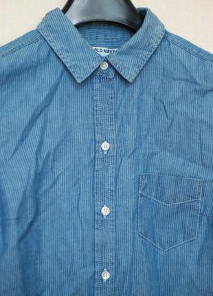 Новая женская рубашка old navy (тонкий джинс)