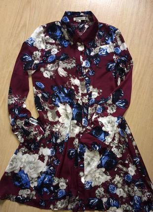 Стильное платье-рубашка р.л    glamorous