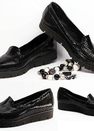 Слипоны туфли слипы натуральная кожа питон 36-41 размер