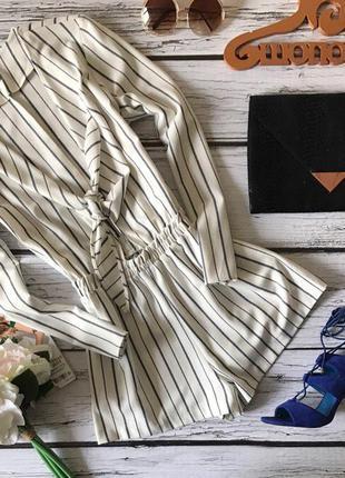 Ультрамодный летний ромер с бантом-завязкой на груди     ov 41002    h&m