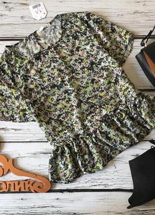 Симпатичная летняя блузка с баской из линейки ltf by zara    bl1564
