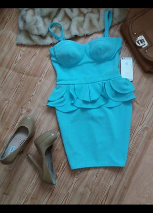 Платье цвета тиффани от lipsy