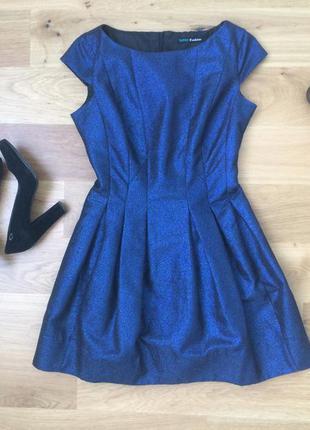 Нарядное синее платье befree
