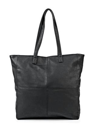 Новая,с биркой, большая,вместительная черная сумка-шоппер, бренд modis
