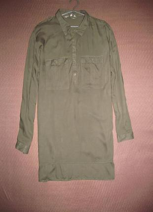 Акция до 01.05, скидки до 50%  легкая рубашка-балахон  цвета хаки