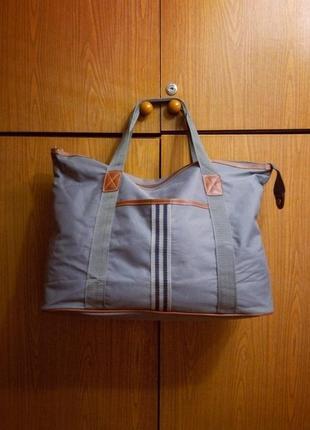 Крутая сумка grey fabric (тренировки,тренировка,чемодан,дорожная,шоппер)