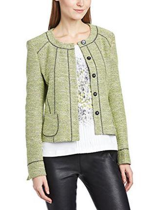 Красивый трикотажный лаймовый зеленый пиджак жакет gerry weber xl-xxl zara
