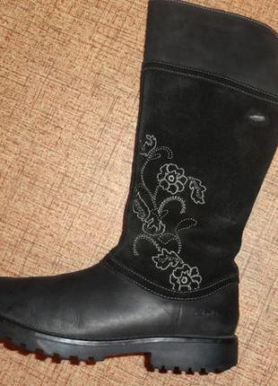 Оригинальные кожаные демисезонные сапоги clarks rhea jane gore tex 38