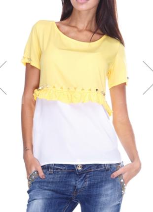 Новая красивая шифоновая блуза justor италия на наш 42-44