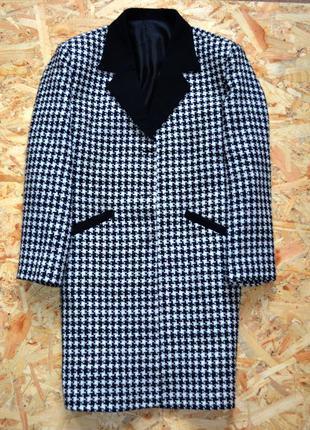 Крутое пальто бойфренд утиная лапка гусяча лапка zara bershka pull&bear пиджак