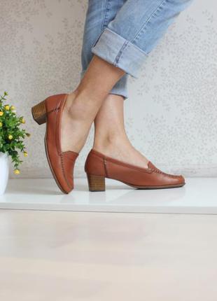Кожаные туфли лоферы монки, натуральная кожа, бренд footglove