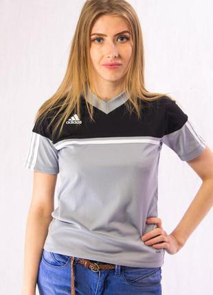 Футболка женская спортивная серая adidas (2xs)