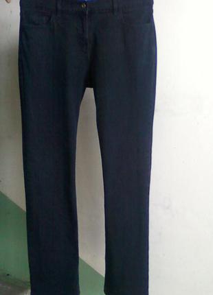 Джинсы штаны брюки straight leg стрейчевые черные деним р 12 или 46-48. состояние отличное