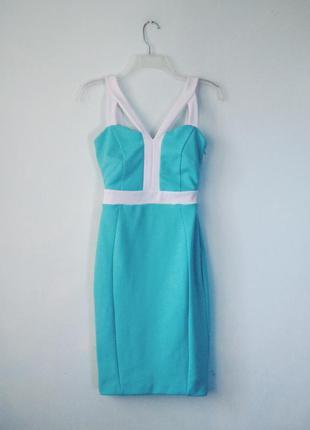 Шикарное мятное платье jane norman ментоловое бирюзовое
