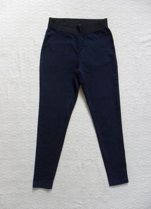 Высокие синие джинсы джеггинсы скинни m&s, 10 размер