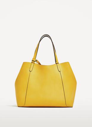 Новая двусторонняя сумка шоппер zara