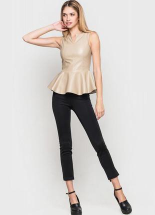 Классная блузка из экокожи