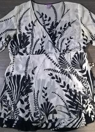 Шикарная универсальная вещь как блузка-туника, накидка, домашний или пляжный халат шёлк