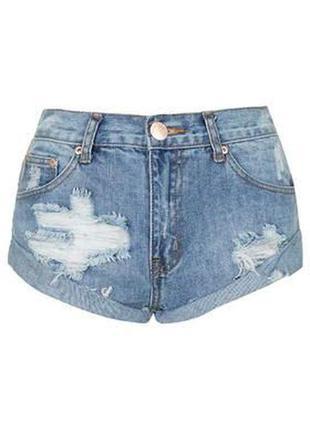 Бомбезные рваные джинсовые шорты от glamorous,p.l