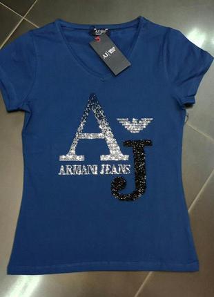 Футболка/женская футболка/стильная/модная/синяя футболка/футболка бренд