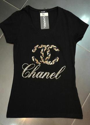 Футболка/женская футболка/стильная/модная/черная футболка/футболка бренд