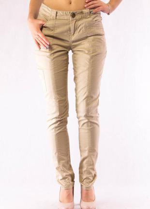 Брюки женские зауженные бежевые dkny jeans (2) (xs-s)