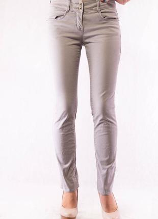 Джеггинсы женские серые tom tailor alexa slim (34) (xs)